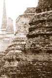 Asian religious architecture. Ancient Buddhist pagoda ruins. Ayu Stock Photos
