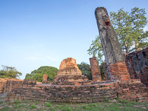 Asian religious architecture. Ancient Buddhist pagoda ruins Stock Image