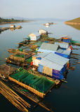 Asian residence, Vietnam floating house Royalty Free Stock Photos