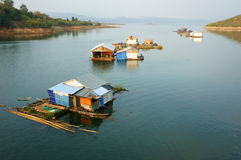 Asian residence, Vietnam floating house Stock Photo