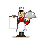 Asian restaurant Chef. Menu card template Stock Images
