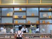 Asian restaurant in Tangerang. TANGERANG, INDONESIA - September 13, 2017: A kitchen of an Asian restaurant Stock Photography