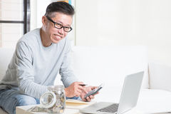 Asian retirees financial planning royalty free stock photos