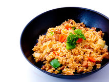 Asian Rice in a Black Pan Royalty Free Stock Photos