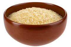 Asian rice bowl isolated. Royalty Free Stock Photo