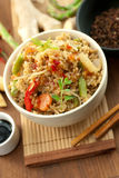 Asian rice dish. Fresh asian vegetable rice dish royalty free stock image