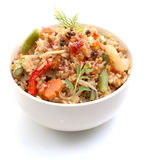 Asian rice dish Royalty Free Stock Images