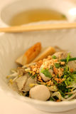 Asian rice noodle recipe. Royalty Free Stock Images