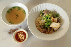 Free Asian Rice Noodle Recipe With Soup Royalty Free Stock Photo - 85402605