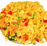 Asian rice with vegetables Stock Photos