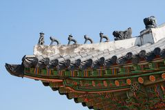 Asian roof detail Royalty Free Stock Photo