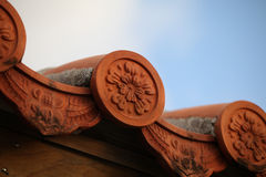 Asian roof tile Royalty Free Stock Photos