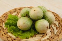 Asian round eggplant Stock Photos