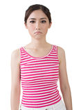 Asian sad pretty young woman Royalty Free Stock Image