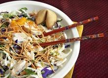 Asian Salad with Chopsticks Royalty Free Stock Photos