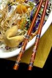 Asian Salad with Chopsticks Stock Photography