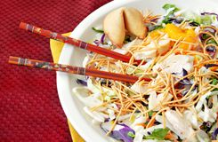 Asian Salad with Chopsticks Royalty Free Stock Photo