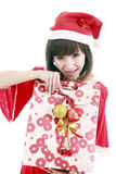 Asian santa girl Royalty Free Stock Images
