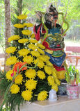 Asian scary mythological statue Royalty Free Stock Images
