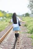 Asian school girl stock images