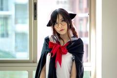 Asian school girl Royalty Free Stock Photos