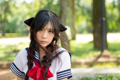 Asian school girl with charming eyes. Thai Asian school girl with charming eyes Stock Image