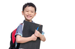 Asian schoolboy smiling Royalty Free Stock Photo