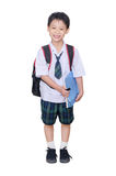 Asian schoolboy in uniform Stock Photos