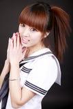 Asian schoolgirl. Stock Photos