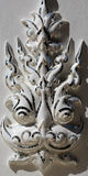 Asian sculpture of the deity face close-up of the White Temple i Stock Image