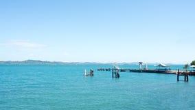 Asian sea port. Stock Image