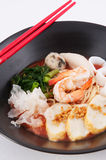 Asian seafood noodle Stock Photo