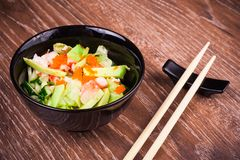 Asian seafood salad Royalty Free Stock Images
