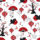 Asian seamless pattern. Vector illustration Royalty Free Stock Photos