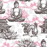 Asian Seamless Pattern Stock Photo