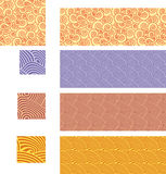 Asian seamless patterns - set 02 Stock Photo