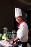 Asian senior chef royalty free stock image