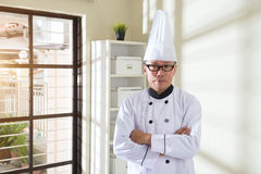 Asian senior chef Stock Photo