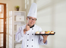 Asian senior chef Royalty Free Stock Photo