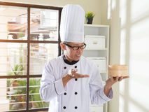 Asian senior chef Stock Images