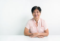 Asian senior citizen Stock Image