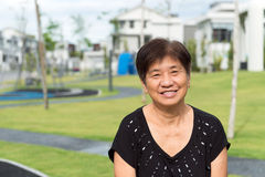 Asian senior citizen Stock Images
