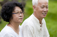 Asian senior couple Stock Images