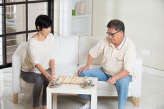 Asian senior couple Stock Image