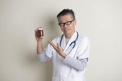 Asian senior doctor Stock Photo