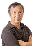 Asian senior man portrait Stock Images