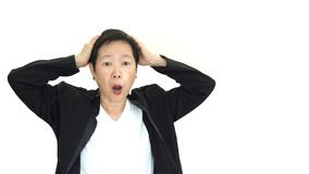 Asian senior manager business woman shouting and angry abstract Stock Photography