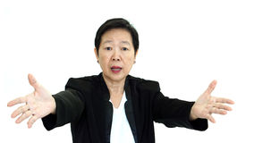Asian senior manager business woman shouting and angry abstract Stock Image