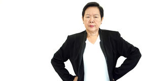 Asian senior manager business woman upset and unhappy abstract l Stock Image