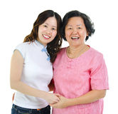 Asian senior mother and daughter Royalty Free Stock Photo